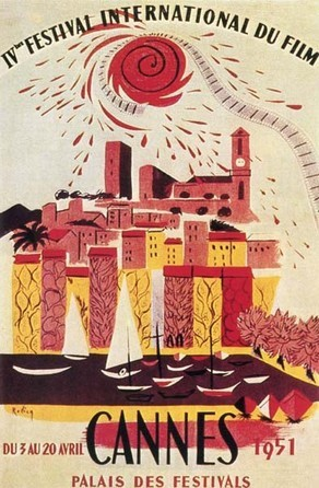 Cartel de del Festival de Cannes 1951