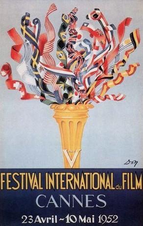 Cartel de del Festival de Cannes 1952