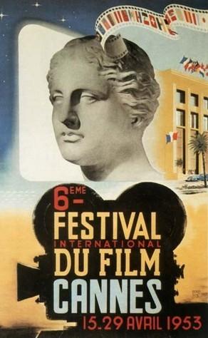 Cartel de del Festival de Cannes 1953