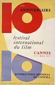 Cartel de del Festival de Cannes 1957