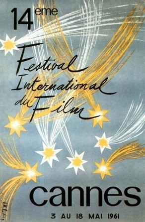 Cartel de del Festival de Cannes 1961