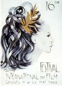 Cartel de del Festival de Cannes 1963
