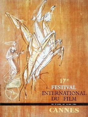 Cartel de del Festival de Cannes 1964