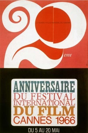 Cartel de del Festival de Cannes 1966