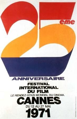 Cartel de del Festival de Cannes 1971