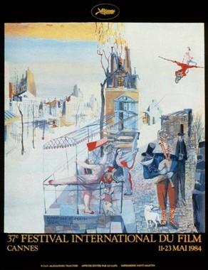 Cartel de del Festival de Cannes 1984