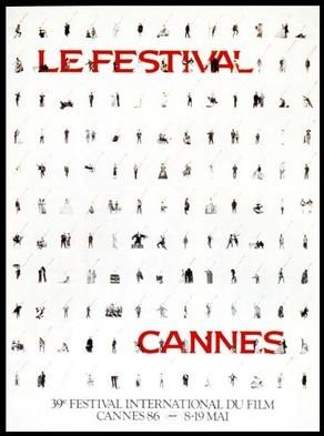 Cartel de del Festival de Cannes 1986