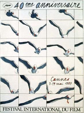 Cartel de del Festival de Cannes 1987