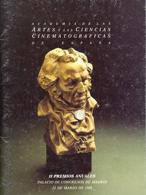 Cartel de de los Goya 1988