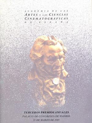 Cartel de de los Goya 1989