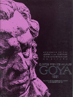 Cartel de de los Goya 1991