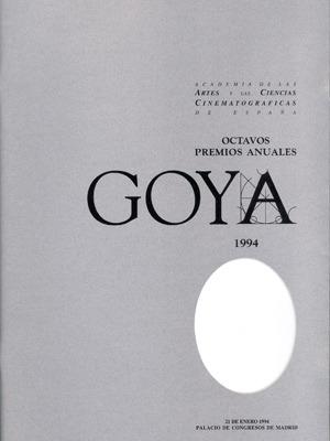 Cartel de de los Goya 1994