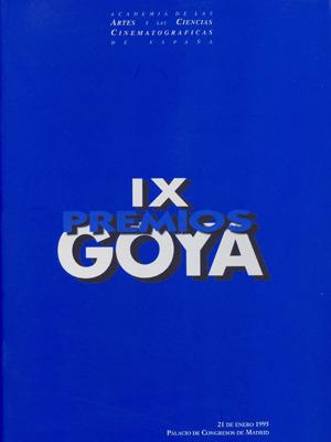 Cartel de de los Goya 1995