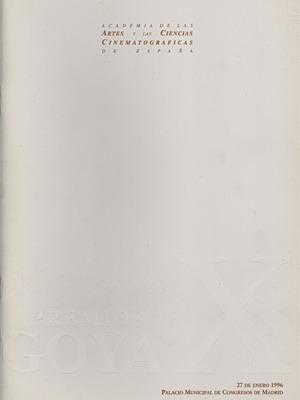 Cartel de de los Goya 1996