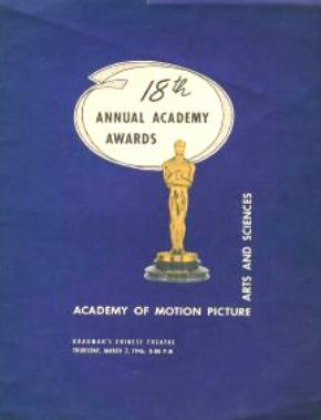 Cartel de de los Oscars 1946