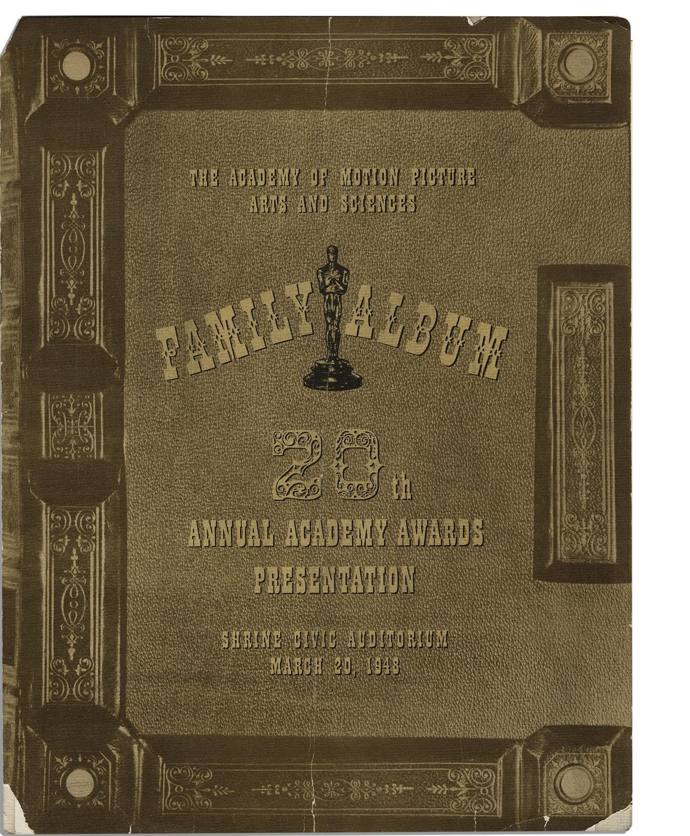 Cartel de de los Oscars 1948