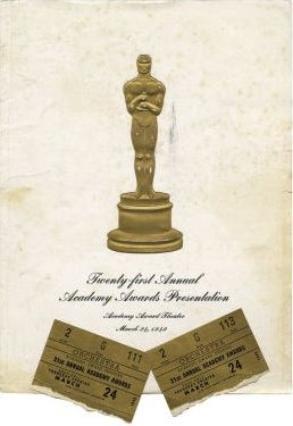 Cartel de de los Oscars 1949