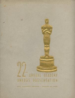Cartel de de los Oscars 1950