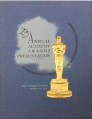 Cartel de de los Oscars 1951