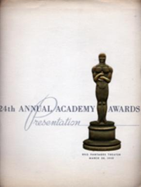 Cartel de de los Oscars 1952