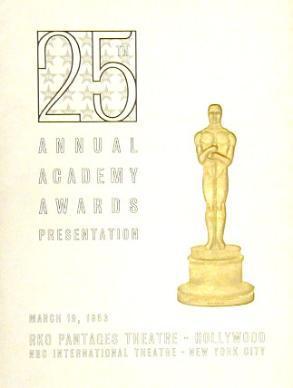 Cartel de de los Oscars 1953