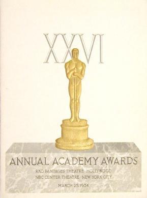Cartel de de los Oscars 1954
