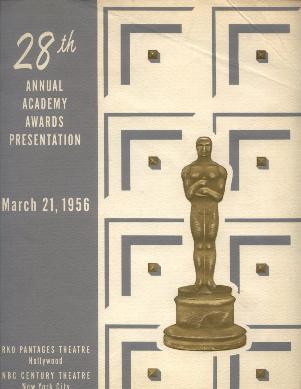 Cartel de de los Oscars 1956