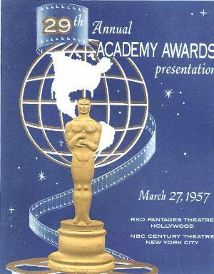 Cartel de de los Oscars 1957