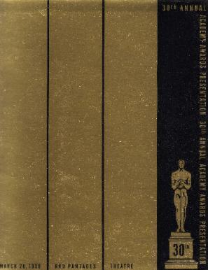 Cartel de de los Oscars 1958
