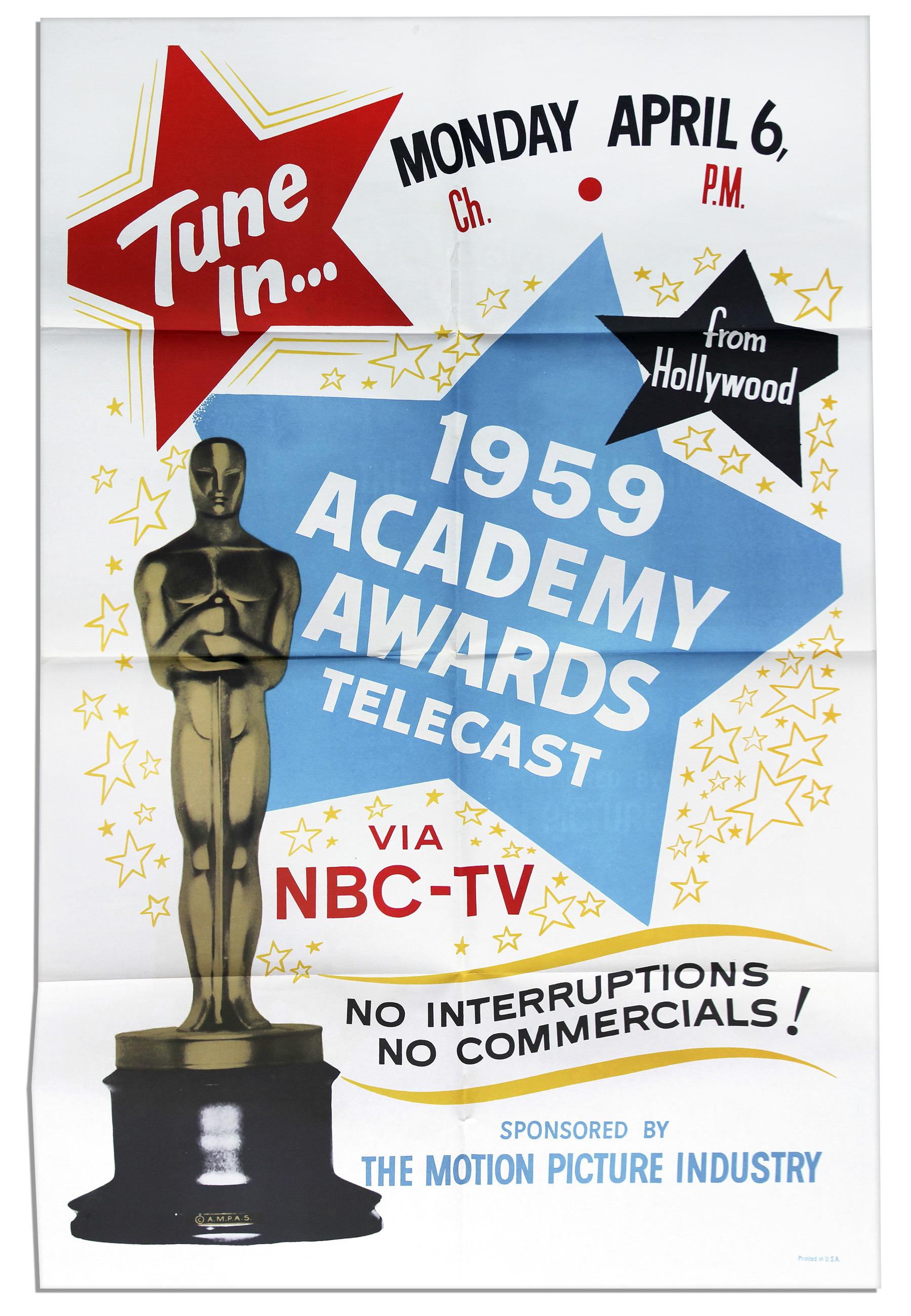 Cartel de de los Oscars 1959