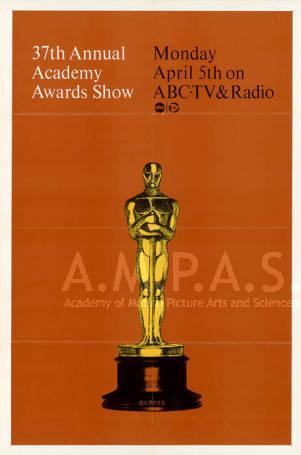 Cartel de de los Oscars 1965