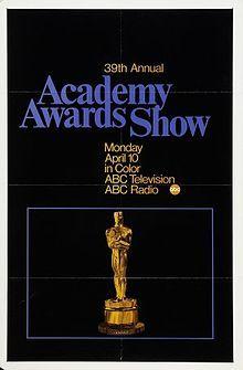 Cartel de de los Oscars 1967