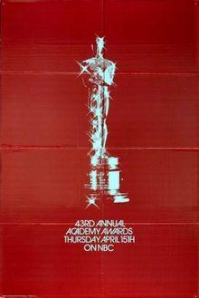 Cartel de de los Oscars 1971