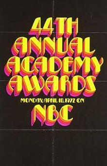 Cartel de de los Oscars 1972