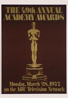 Cartel de de los Oscars 1977