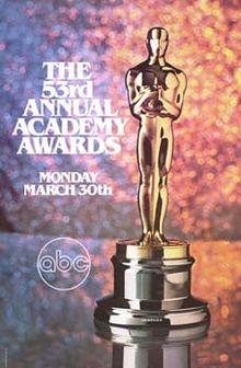 Cartel de de los Oscars 1981