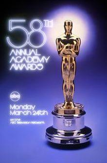 Cartel de de los Oscars 1986