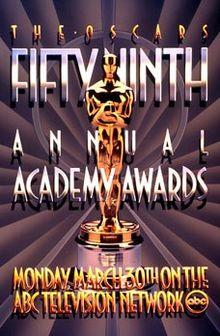 Cartel de de los Oscars 1987