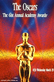 Cartel de de los Oscars 1989