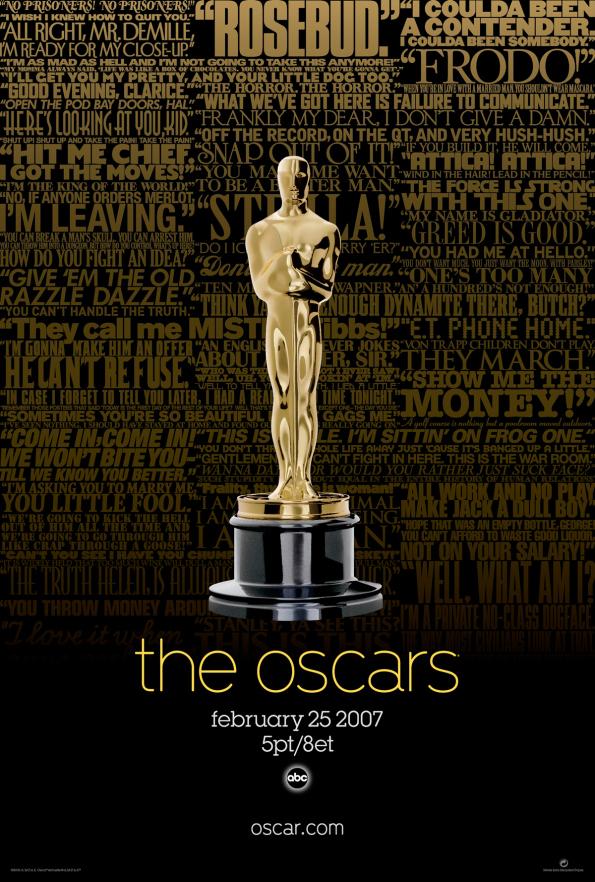 Cartel de de los Oscars 2007