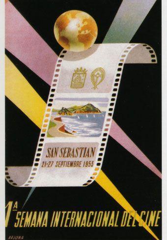 Cartel de del Festival de San Sebastián 1953