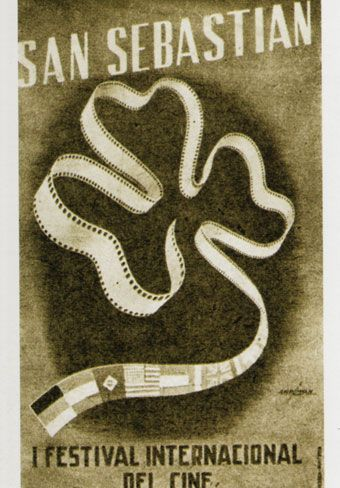 Cartel de del Festival de San Sebastián 1954