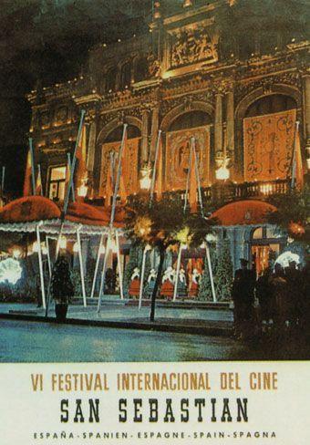 Cartel de del Festival de San Sebastián 1958