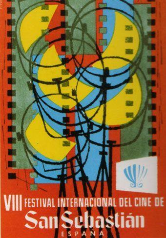 Cartel de del Festival de San Sebastián 1960