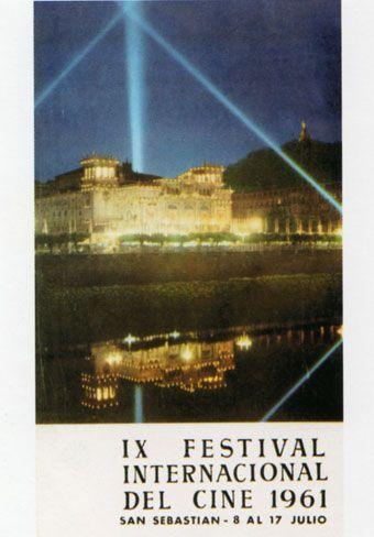 Cartel de del Festival de San Sebastián 1961