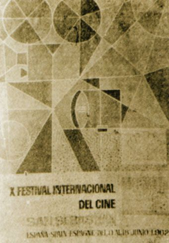 Cartel de del Festival de San Sebastián 1962
