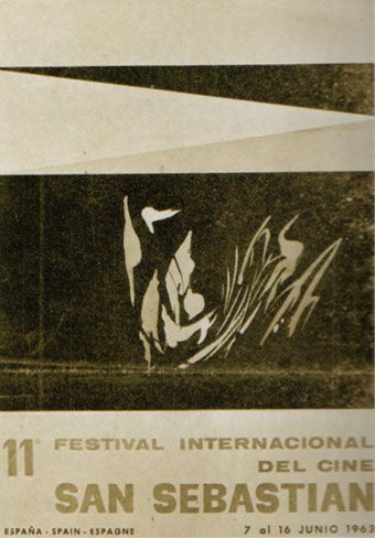 Cartel de del Festival de San Sebastián 1963