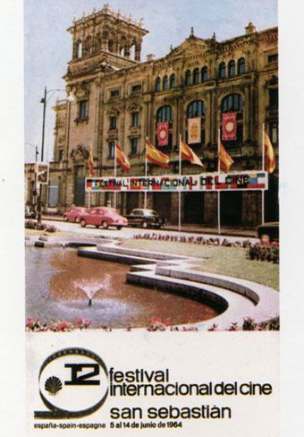 Cartel de del Festival de San Sebastián 1964