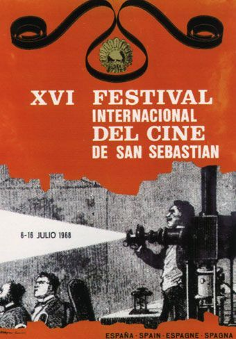 Cartel de del Festival de San Sebastián 1968