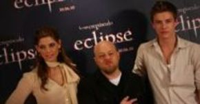 David Slade, Ashley Greene y Xavier Samuel presentan 'Eclipse' en Madrid